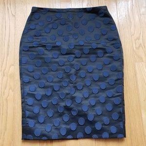 J. Crew Polia Dot Pencil Skirt